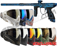 Dye M3s Gun w/ FREE Dye I5 Mask - Polished Acid Wash Blue