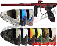 Dye M3s Gun w/ FREE Dye I5 Mask - Polished Acid Wash Red