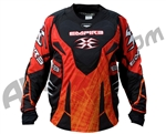 Empire 2011 Contact LTD ZE Paintball Jersey - Red Scratch