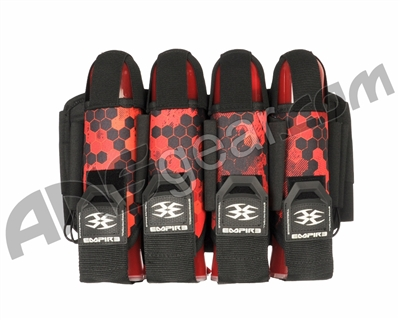 Empire Action Pack Hex FT Paintball Harness - 4+7 - Red