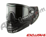 Empire E-Flex Paintball Mask w/ Plaid Soft Ears & Red Camo Strap - Black