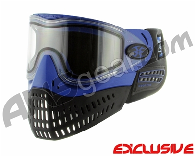 Empire E-Flex Paintball Mask w/ Blue Camo Strap - Blue