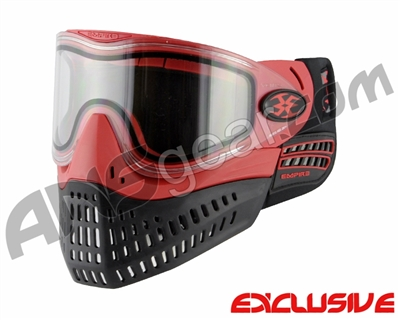 Empire E-Flex Paintball Mask w/ Red Camo Strap - Red