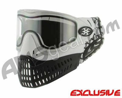 Empire E-Flex Paintball Mask w/ Waffle Soft Ears - White