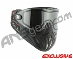 Empire E-Vents Paintball Mask w/ Plaid Soft Ears & Red Camo Strap - Black