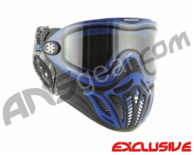 Empire E-Vents Paintball Mask w/ Star Soft Ears & Blue Camo Strap - Blue
