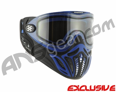 Empire E-Vents Paintball Mask w/ Blue Camo Strap - Blue
