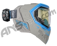 Empire EVS Paintball Mask w/ Recon HUD - Grey/Cyan
