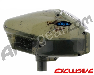 Empire Halo Too SE Paintball Hopper - Dirty Green