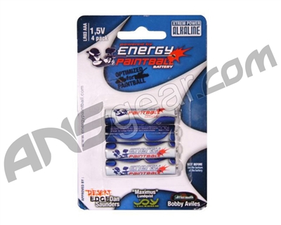 Energy Paintball AAA Alkaline Battery - 4 Pack