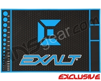 Exalt HD Rubber Paintball Tech Mat - Black/Blue