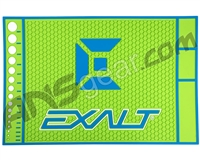 Exalt HD Rubber Paintball Tech Mat - Lime/Blue