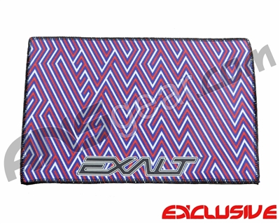 Exalt Microfiber Player Goggle Cloth - Red/White/Blue