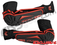 Exalt T3 Elbow Pads - Black/Red