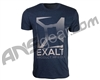 Exalt Knockout Paintball T-Shirt - Navy/Grey