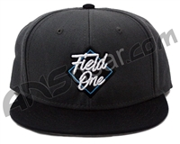 Field One Diamond Snap Back Hat - Black