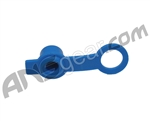 Rubber HPA Fill Nipple Cover With Lanyard - Blue