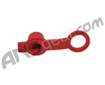 Rubber HPA Fill Nipple Cover With Lanyard - Red