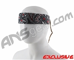Full Clip Headband - Paisley Black & Red