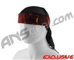 Full Clip Headband w/ Netting - Fire Skull