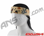 Full Clip Headband w/ Netting - Tattoo Flash Tan