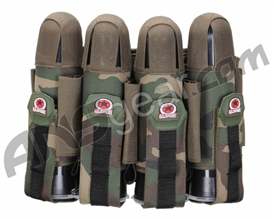 GI Sportz 4+5 Glide Paintball Harness - Woodland