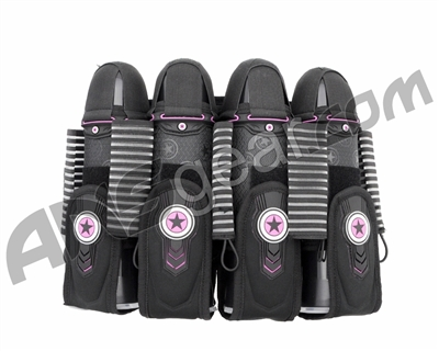 GI Sportz 4+7 Race Pack Paintball Harness - Black/Purple