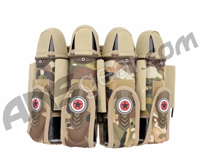 GI Sportz 4+7 Race Pack Paintball Harness - Multicam