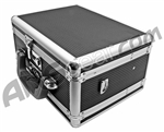 Ribbed Aluminum Double Gun Case w/ Combination Locks - Black