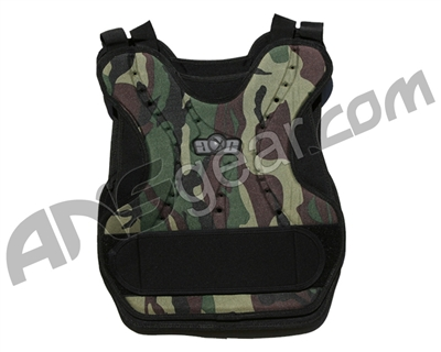 Gen X Global Paintball Chest Protector - Woodland Camo
