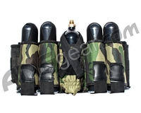 Gen X Global 4+1 Vertical Paintball Harness - Woodland Camo