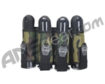 Gen X Global 4 Pod Vertical Paintball Harness - Woodland Camo