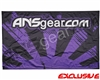 "HK Army ANSGEAR Banner - 41"" x 26"" - Rising Sun Black/Purple"
