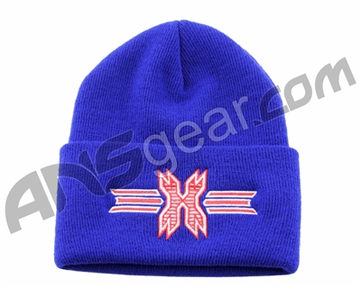 HK Army Icon Beanie - Blue/Red Stitch