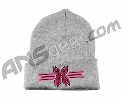HK Army Icon Beanie - Grey/Pink Stitch