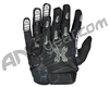 HK Army FULL FINGER Hardline Paintball Gloves - Black/Olive/Grey