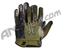 HK Army FULL FINGER Hardline Paintball Gloves - Olive HSTL Camo