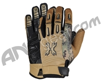 HK Army FULL FINGER Hardline Paintball Gloves - Tan HSTL Camo