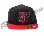 HK Army Snap Back H Hat - Black/Red