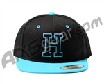 HK Army Snap Back H Hat - Black/Turquoise