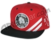 HK Army Snap Back Collide Hat - Red/Black