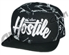 HK Army Snap Back Swoop Hat - Marble/Black
