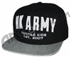 HK Army Snap Back Varsity Hat - Black/Grey