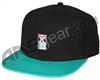 HK Army Snap Back Wavy Hat - Black/Teal