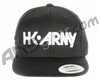 HK Army Snap Back Typeface Hat - Black/White