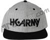 HK Army Snap Back Typeface Hat - Slate/Black