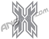 HK Army Icon Car Sticker - Silver