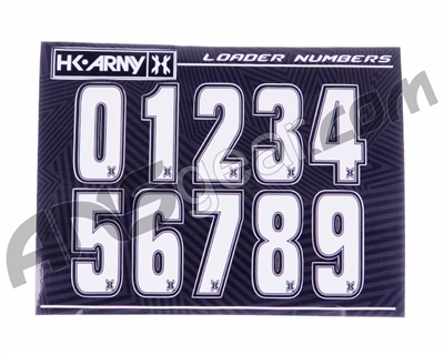 HK Army Loader Numbers - White