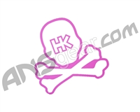 HK Army Giant 15 Inch Skull Car Sticker
