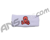 HK Army Skull Sweatband - White/Red